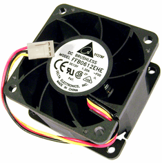 Delta 12v DC 1.20a 60x38mm 3-Wire Fan FFB0612EHE-F00 3-Pin Brushless