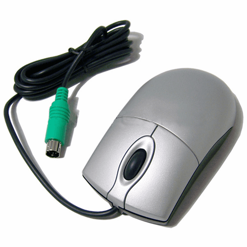 Gateway Primax PS2 Silver Scroll Mouse New MO42KC 7005398R Wheel Mouse