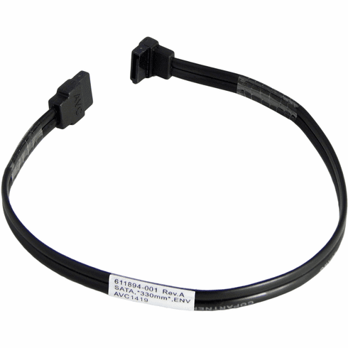 HP 12 Inch Straight to Right Angled Sata Cable 611894-001 SATA Hard Drive Cable New