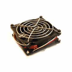 HP 12vDC 0.30a 80x25mm 3Wire Fan w/ Grill 282318-002F Minebea  (11in - Cable)