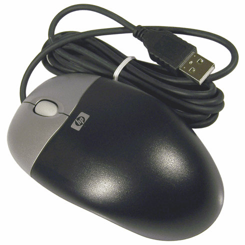 HP 390938-001 Optical USB Scroll Mouse NEW 266654-001 2-Button Carbon Wired Bulk