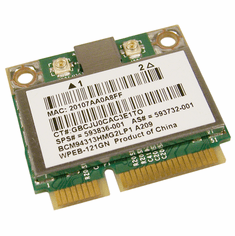 HP 4313AGn WiFi 802.11a-b-g Draft-n Adapter 593733-001 HMC1x1 Broadcom Shiraz NEW