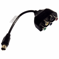 HP 9-Pin to S-Video RCA YPbPr Cable 417149-001 HD S-Video Breakout Cable
