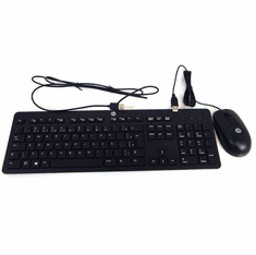HP Brazilian Slim Keyboard w Mouse USB New T6T83AA#AC4 SK-2120 KB SM-2027 MOUSE