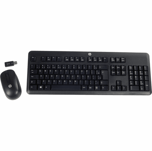 HP Brazilian Wireless Combo Keyboard w Mouse 690500-203