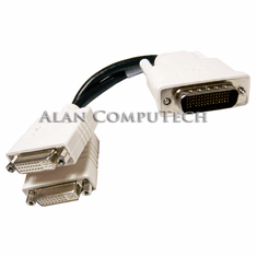 HP DMS-59-M to Dual DVI-F 8-inch Y-Cable 338285-009 Rev.A Y-Splitter