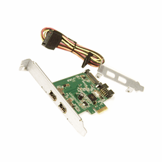 HP Dual Port Firewire IEEE 1394a PCIe x1 Card BW851AA Include Cable and LP Bracket
