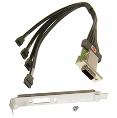 HP Ext MiniSAS 4xENV w PCI Bracket Cable NEW 398299-002 Foxconn H1225 Exterenal