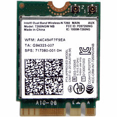 HP Intel 7260NGW NB Dual Band Wifi  New 717380-001 802.11 a/b/g/n WiFi Card
