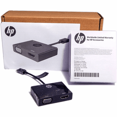 HP MicroUSB-Male to HDMI-VGA Adapter New K2P81AA