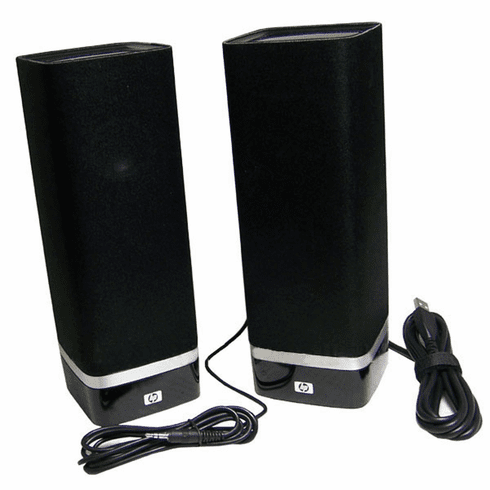 HP S-00074 USB 2.0 Powered Speakers NEW 512082-001 SkyRoom RoHS New Retail