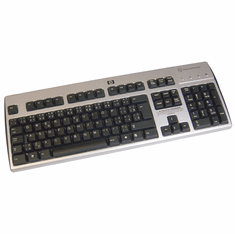 HP Slovakian Smartcard USB Keyboard NEW 434822-234 CCID Black-Silver Keyboard