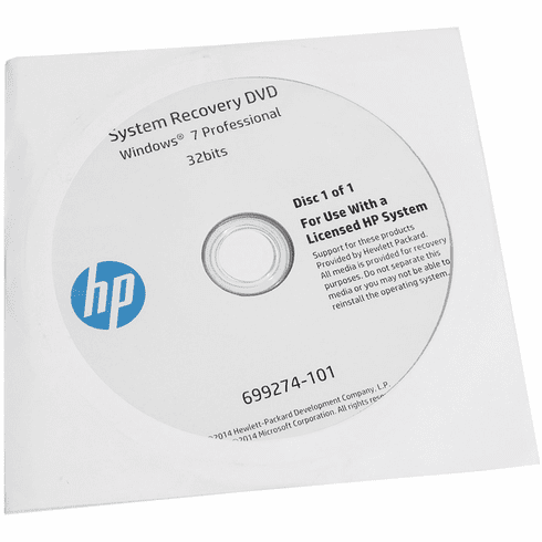 HP System Recovery Windows 7 Pro 32bits DVD 699274-001