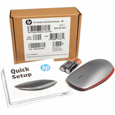 HP UltraThin Bluetooth Red Wireless Mouse L9V77AA#ABA