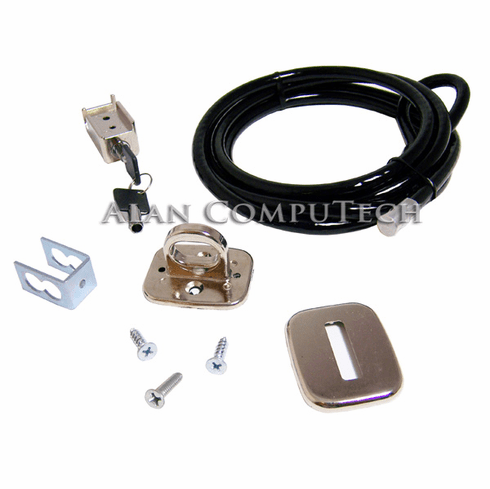 HP Universal PC Chassis Security Lock Kit PV6060AA Cable, Trap Lock Assy & Key