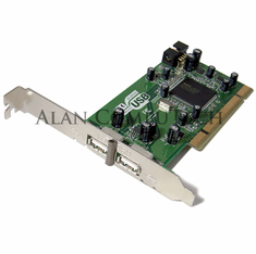 HP USB 2.0 Highspeed 2-Port PCI Adapter Card 300866-001 142531000000A  Interface