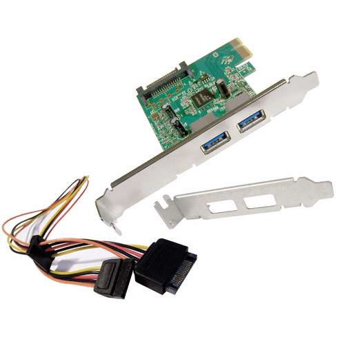 HP USB 3.0 2Port SuperSpeed 1x PCIe Kit NEW 607782-001 with  LP Bracket and Cable