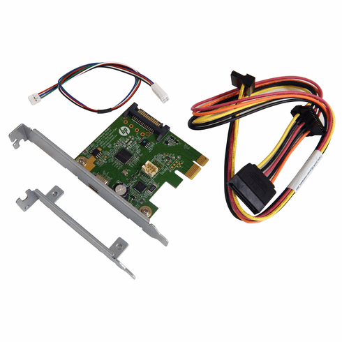 HP USB 3.1 TypeCx1 PCIe x1 Card Kit New 821128-001 Hi368-1 LP bracket and Cable