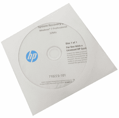 HP Windows 7 Pro 32bits DVD System Recovery 710223-101