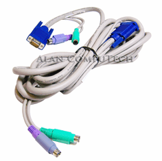 IBM 09N9705 Console-KVM 12ft Video-M-KB Cable 06P6007 Video- Mouse- Keyboard Cable