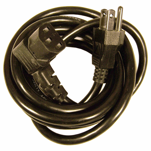 IBM 13a 125v Right Angle 3-Pole Power Cord 43H5248 1625w Double-Insulated Cable