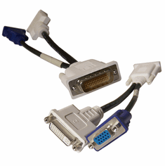 IBM 41R3362 DMS59 to 1-VGA and 1-DVI Splitter 42Y8183 L10254 DMS-59 Dongle Cable