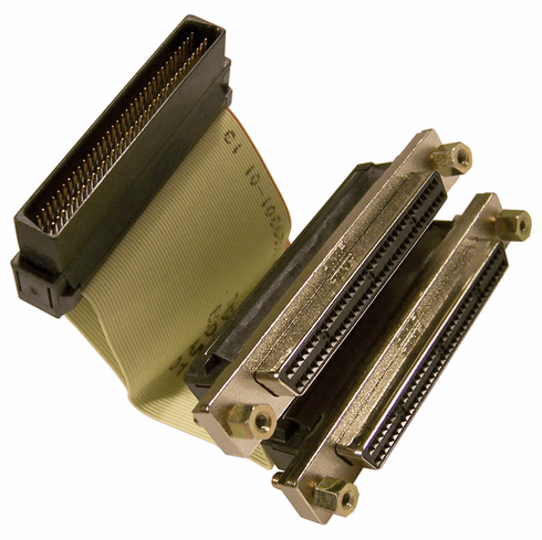 IBM 7210-025 HD68M-to-2HD68F Internl SCSI Cable 74G8270 D46723 Internal SCSI-3 Cable