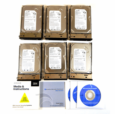 IBM MS3004 Pre-Loaded Linux 6-HDD with CD 100437217 Set of 6 Hard Drives
