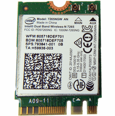 Intel 7265NGW AN WLAN M.2 2x2 WiFi  BT4 Mod 793841-001 802.11ac WiFi + Bluetooth