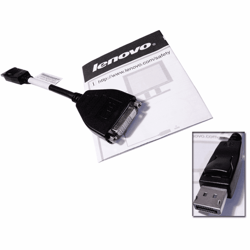 Lenovo DP to DVI-D Monitor Video Cable New 45J7915