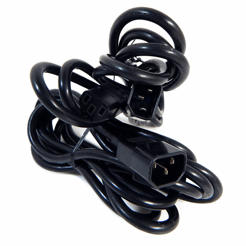 Lot-2 10-Ft C13 to C14 Ext Power Cord C132C14-10-L2 250VAC 10A