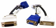 Lot-20 IBM DMS59 to 1-VGA / 1-DVI Splitter 42Y8183-L20 L10254 DMS-59 Dongle Cable