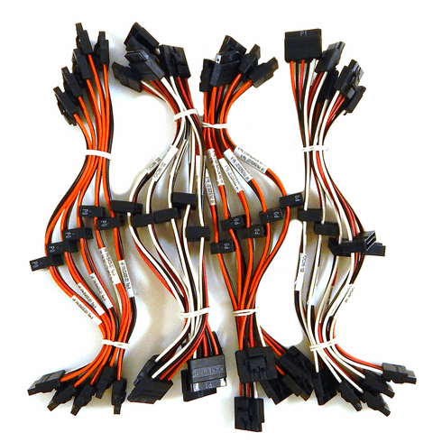 Lot-20 SATA Power Splitter Y Cable New 654000-L20 15 Pin M to (2x )15 Pin F