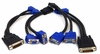 Lot-4 DMS-60 to Dual VGA Video Y-Cable F15941-00-L4 DMS60 to 2-VGA