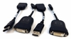 Lot-4 HP DisplayPort to DVID Adapter Cable 481409-001-L4 DP to DVI-D (Dual Link)