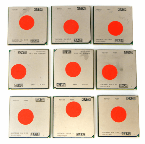Lot-9 IBM Power7 CPU for Gold Recovery GLDP7-L9 Scrap/Gold Recovery (AS-IS)