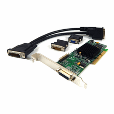 Matrox G550 32MB DMS60 AGP Video Card G55MADDL32DR with Y-Cable Dual DVI/VGA