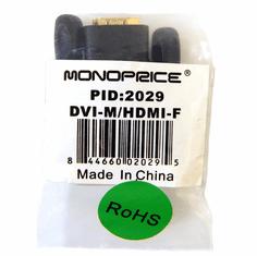 Monoprice DVI-D Single Link (M) to HDMI (F) Adapter 2029