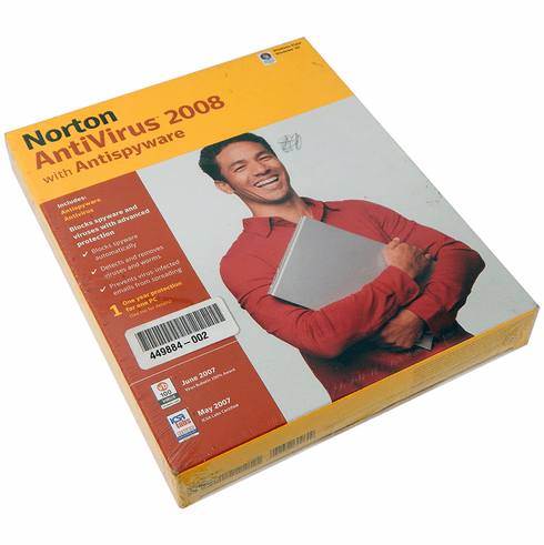 Norton AntiVirus 2008 with Antispyware Retail 12567404