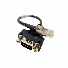 PAC 7in Male DB-9 to RJ-45 Interface  Cable 112-00054 Rev.A0 Black Cable