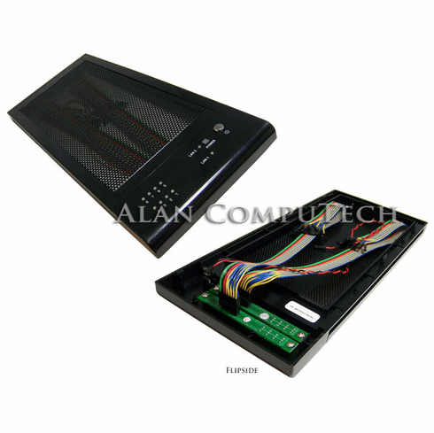 Polywell NAS 8-Bay Front Main Bezel CPL-B8283GG-BEZEL with Cable for PBPC-Polywell