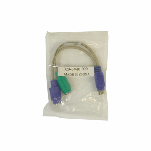 PS2 Male to 2 PS2 Female Y-Cable NEW 320-01687-000