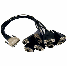 Quatech VHDCI68m to 8-DB9m Cable NEW Bulk CP-ESCLP-DB9 E89980-a Black For ESCLP-100