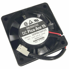 Sanyodenki 0.9a DC 60x15mm 12v 2-Wire FAN 109P0612H723 2-Pin Petit Ace 15 Brushless