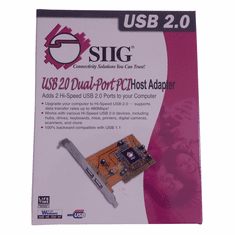 SIIG Dual-Port USB 2.0 PCI Host Adapter New JU-P20212 Retail Box
