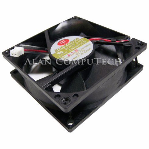 Superred 12v DC 0.17a 2Pin 2-Wire 80x25mm Fan CHA8012CB CHA8012CB-EH