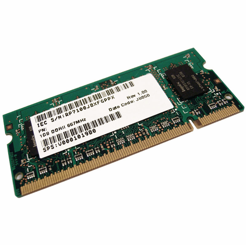 Toshiba 1GB DDR2 PC2-5300s Memory Module New V000101980 Laptop EBE11UE6ACSA-6E-E
