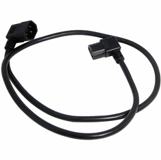 Well Shin C13-C14 Angled 10A 3.5Ft Power Cord H05VV-F35