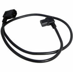 Well Shin C13-C14 Angled 10A 3.5Ft Power Cord H05VV-F39