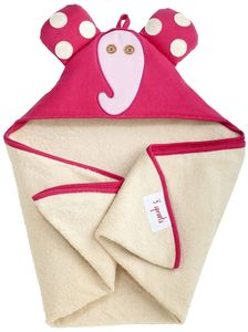 3 Sprouts Hooded Towel - Elephant Pink
